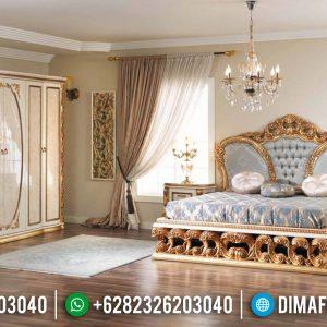 Jual Tempat Tidur Mewah Jepara Ukiran Gold Turkey TTJ-0006