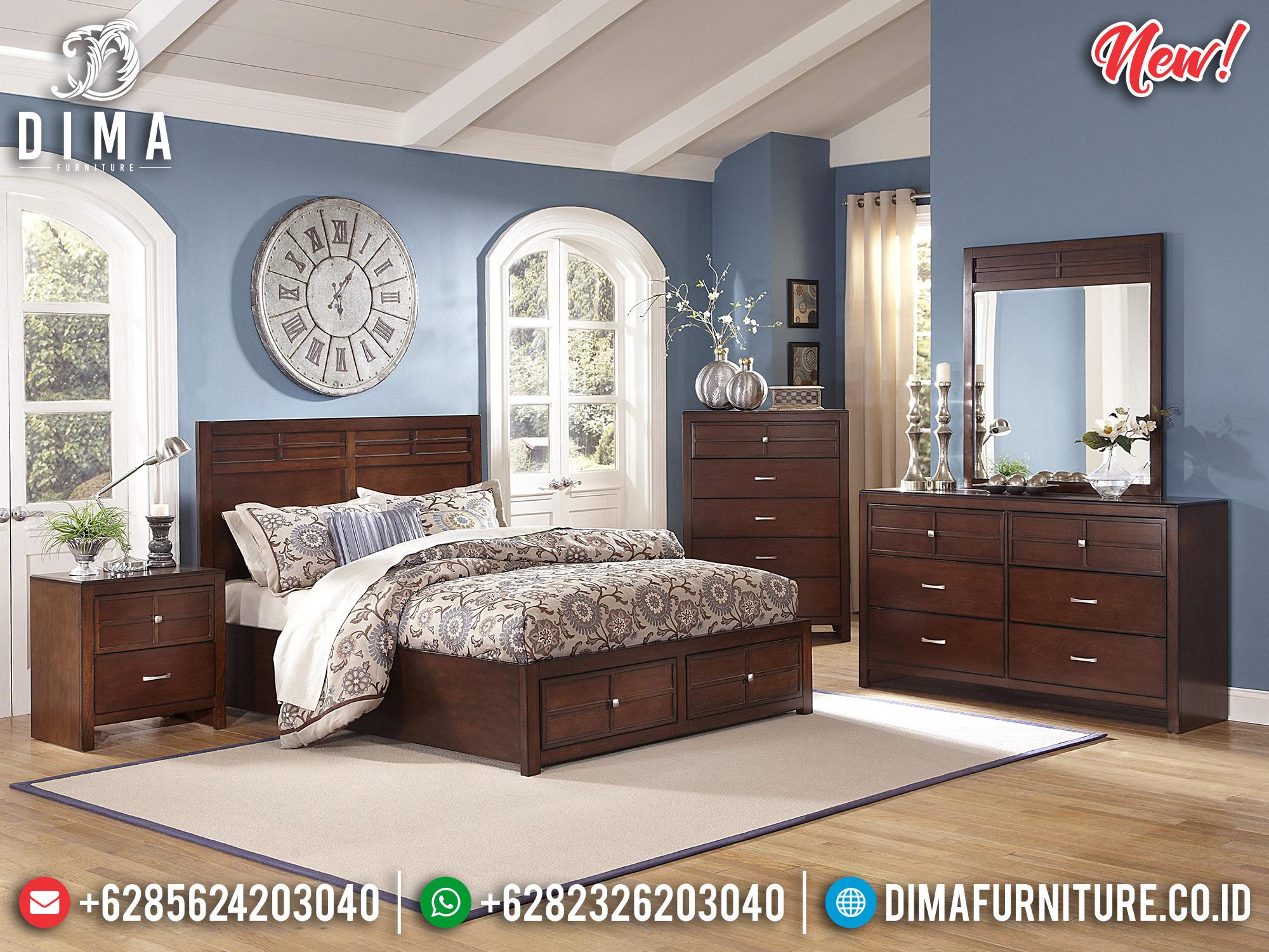 Jual Tempat Tidur Minimalis Jati Jepara TTJ-0003