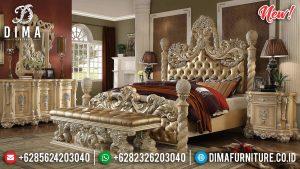 New Tempat Tidur Mewah Ukiran Jepara Golden Classic TTJ-0007