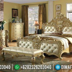 Tempat Tidur Jepara Gold Leaf Mewah Klasik TTJ-0008