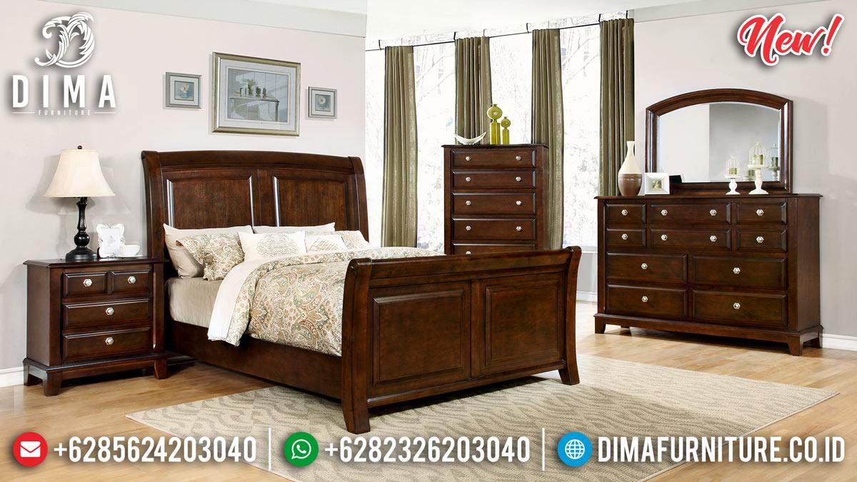 Furniture Jepara Tempat Tidur Minimalis Jati Natural TTJ-0094