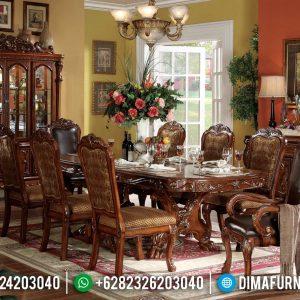 Meja Makan Klasik Natural Khas Jepara TTJ-0052