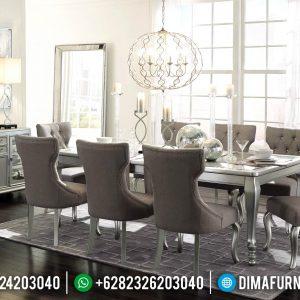 Set Meja Makan Minimalis Modern Silver Duco TTJ-0036
