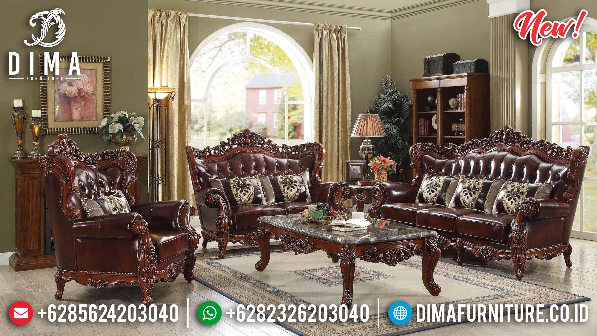 Sofa Tamu Jepara Mewah Ukiran Jati Royal TTJ-0010
