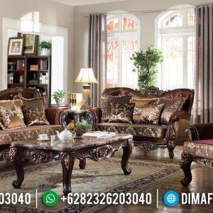 Beli Set Sofa Tamu Mewah Klasik Jati Perhutani Asli TTJ-0148