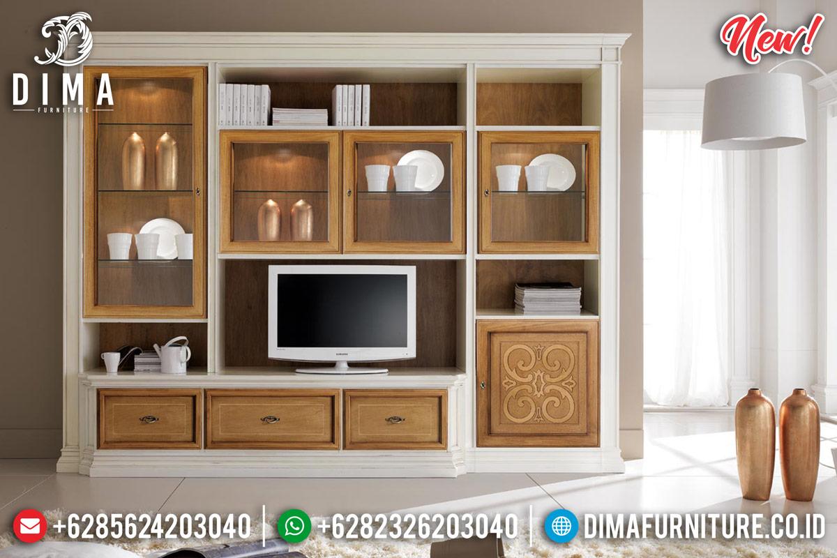Bufet TV Jepara Modern Minimalis Natural Kombinasi Duco TTJ-0129
