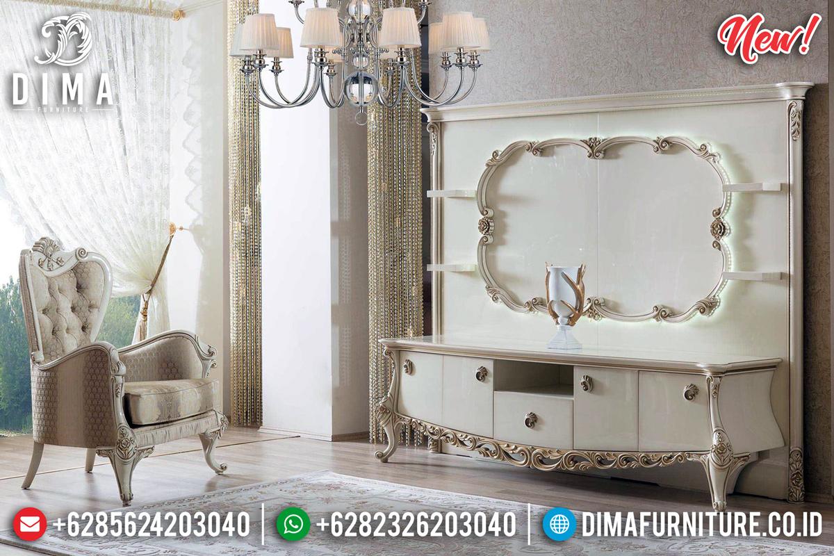 Desain Mewah Bufet TV Duco Kombinasi TTJ-0115