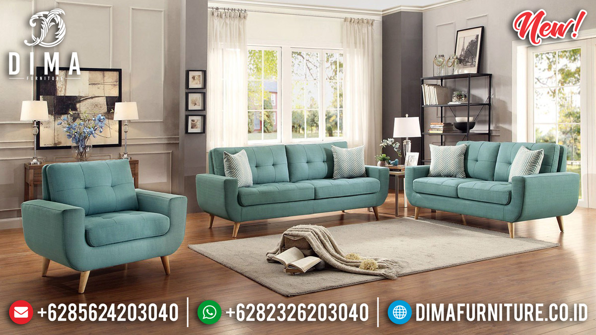 Desain Retro Set Sofa Tamu Minimalis Modern Vintage Daphnie TTJ-0137