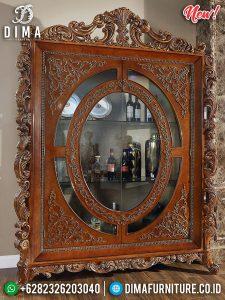 Design Classic Lemari Hias Mewah Natural Jati TTJ-0174