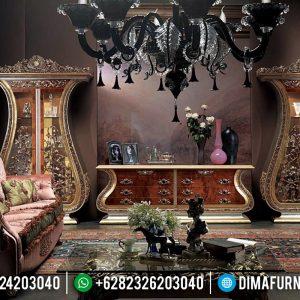 Harga Bufet TV Mewah Full Ukiran Klasik Khas Jepara TTJ-0125