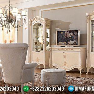 Mebel Jepara Lemari Pajangan Meja TV Luxury Ukiran Klasik TTJ-0119