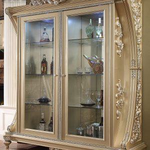 Model Super Luxury Lemari Hias Mewah Golden Louvre TTJ-0177