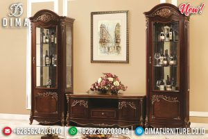 Model Terbaru Buffet TV Mewah Natural Louvre TTJ-0109