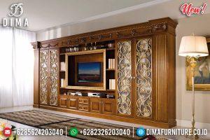 Model Termewah Bufet TV Majestic Natural Klasik TTJ-0126