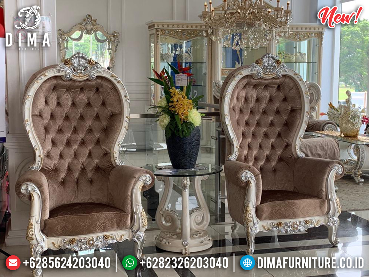 Set Coffee Table Luxury, Kursi Teras Mewah Ukiran Khas Jepara 2020 TTJ-0153