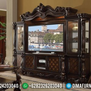 Termewah Bufet TV Klasik Jati Ukiran Jepara TTJ-0108