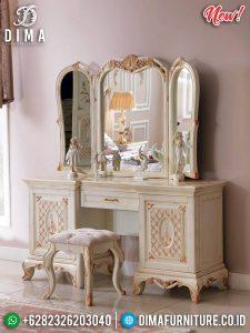 1 Set Meja Rias Mewah Furniture Jepara Terbaru TTJ-0278