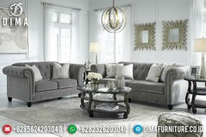 Best Seller Set Sofa Tamu Minimalis Chesterfield Furniture Jepara Terbaru TTJ-0377