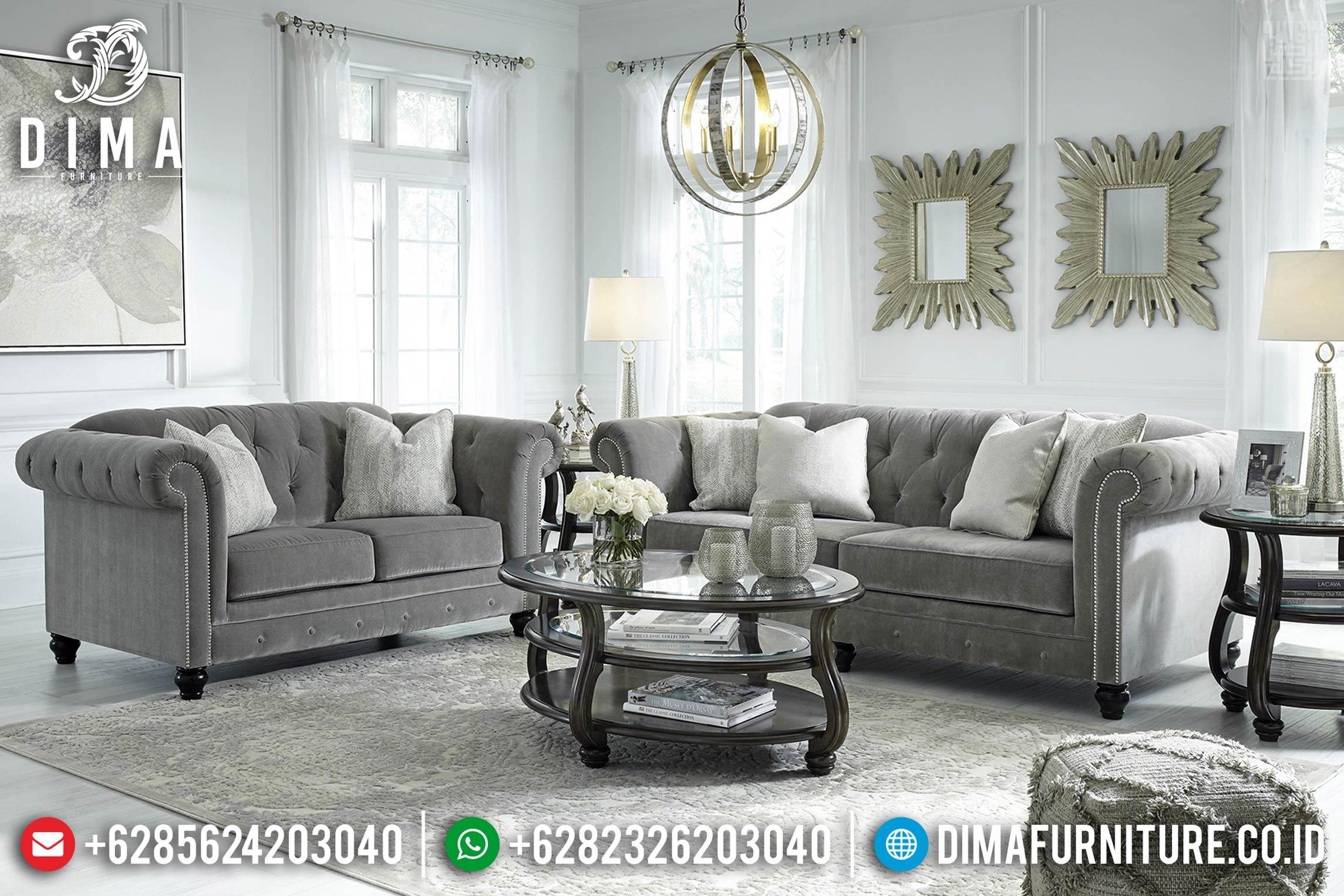 Best Seller Set Sofa Tamu Minimalis Chesterfield Furniture Jepara Terbaru TTJ-0377