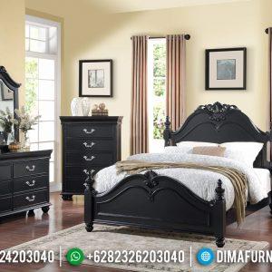 Design Tempat Tidur Minimalis Black Duco Mebel Jepara Terbaru TTJ-0267
