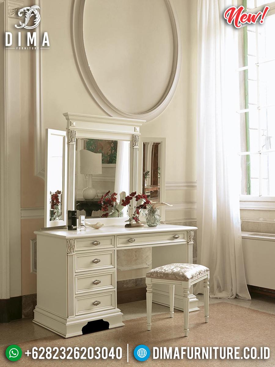 Harga Meja Rias Minimalis Model Laci Furniture Jepara Terbaru TTJ-0309