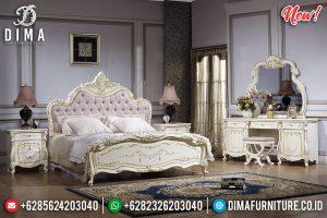 Harga Set Tempat Tidur Mewah Carolina Putih Duco Kombinasi TTJ-0276