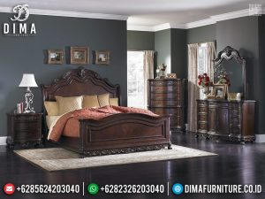Harga Tempat Tidur Jati Natural Furniture Jepara Terbaru TTJ-0259