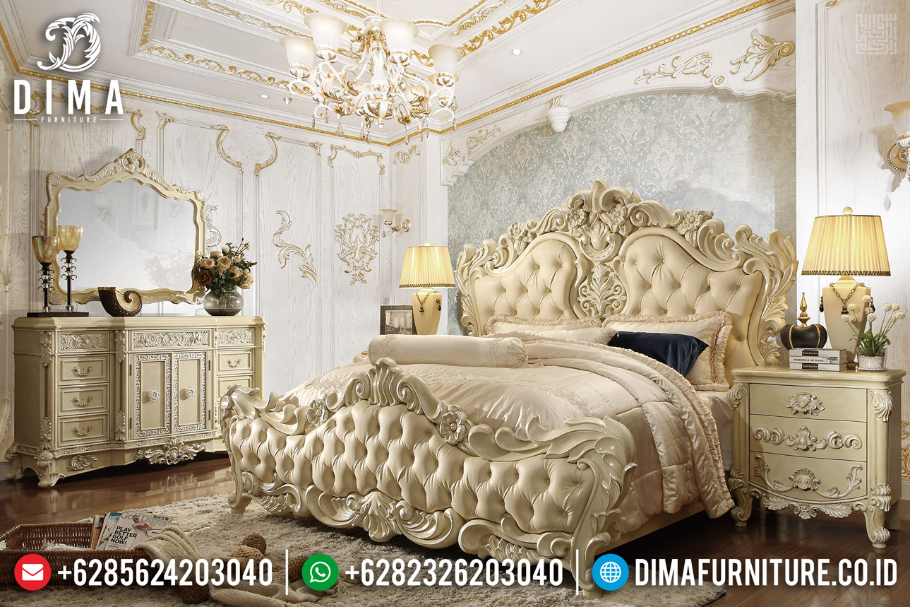 Harga Tempat Tidur Mewah Jepara New Design 2020 Ukiran Classic Luxury Royals TTJ-0317