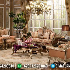 Jual Sofa Tamu Mewah Silver Glossy Furniture Jepara TTJ-0194