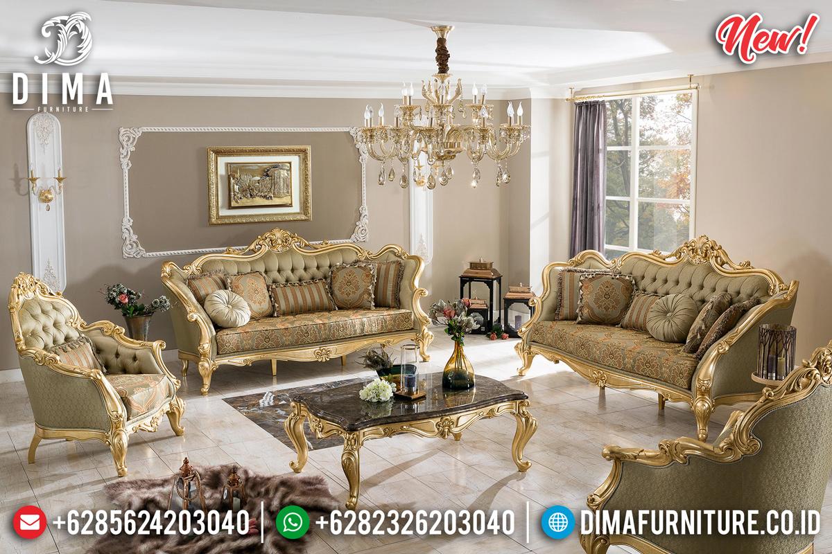 Jual Sofa Tamu Mewah Ukir Jepara Cat Duco Emas Luxury TTJ-0185