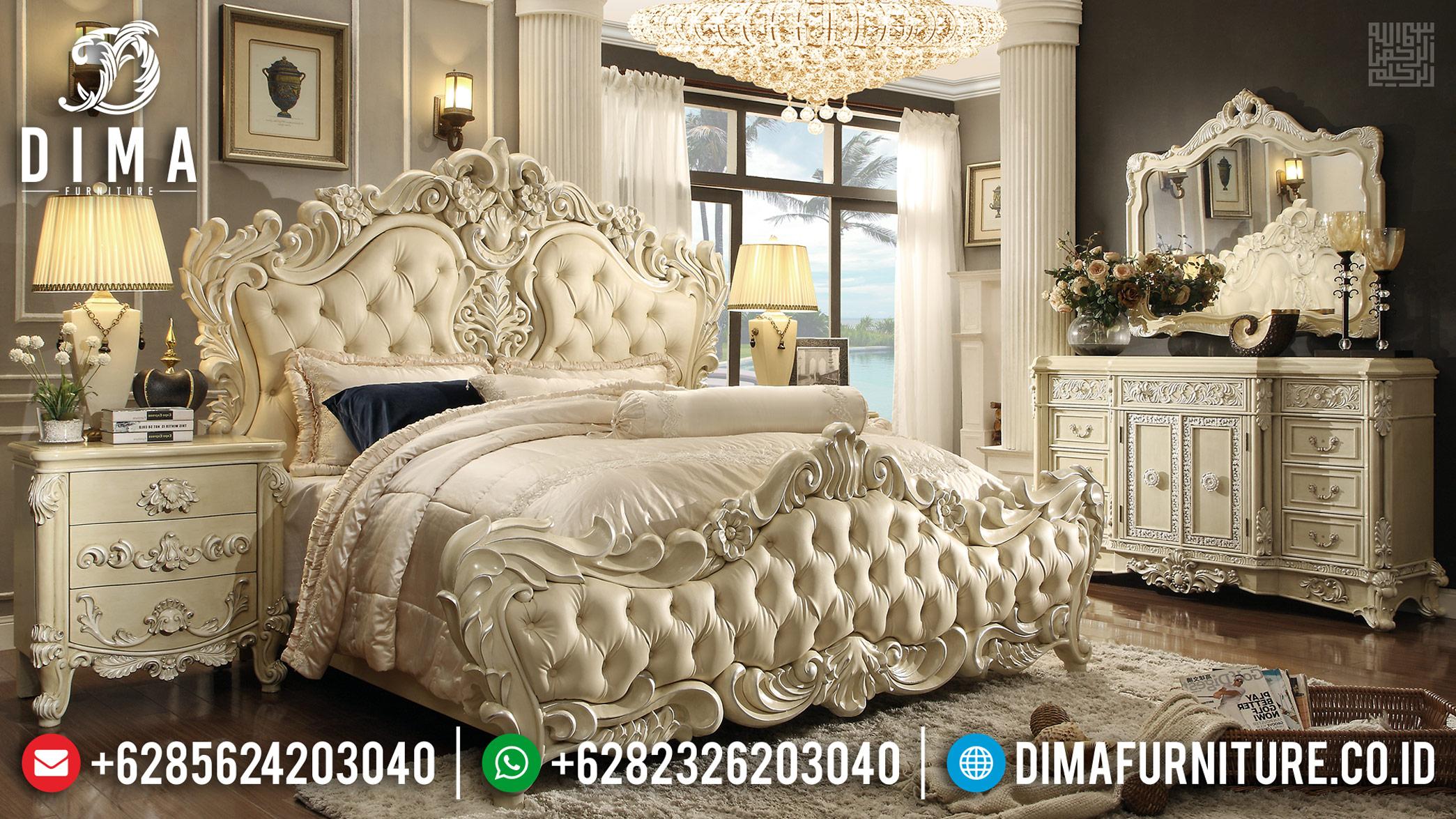 Jual Tempat Tidur Mewah Ukiran Jepara, Kamar Set Mewah Superior LuxuryTTJ-0327