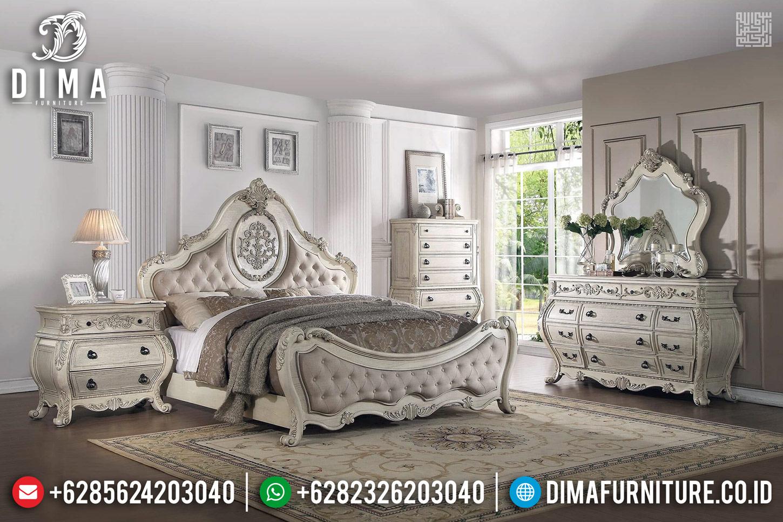 Jual Tempat Tidur Mewah Venezia Ukiran Khas Jepara Terbaru TTJ-0275