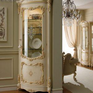 Lemari Hias Jepara Luxury Classic Duco Kombinasi TTJ-0214