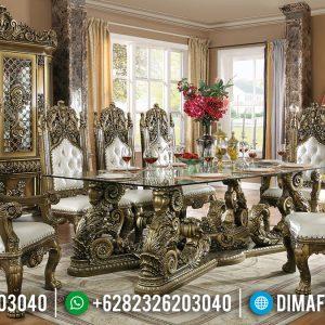 Meja Makan Mewah Desain Kerajaan Timur Tengah Mebel Jepara Terbaru TTJ-0223