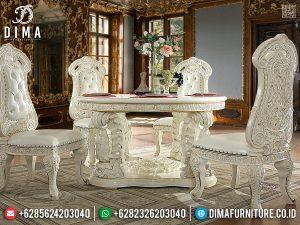 Meja Makan Mewah Duco Ukiran Klasik Eropa TTJ-0240