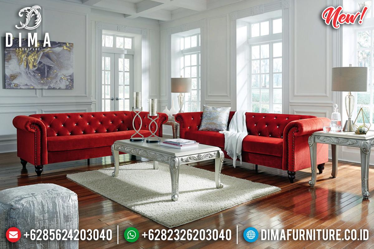 New Design Sofa Tamu Jepara Modern Tipe Chesterfield TTJ-0203