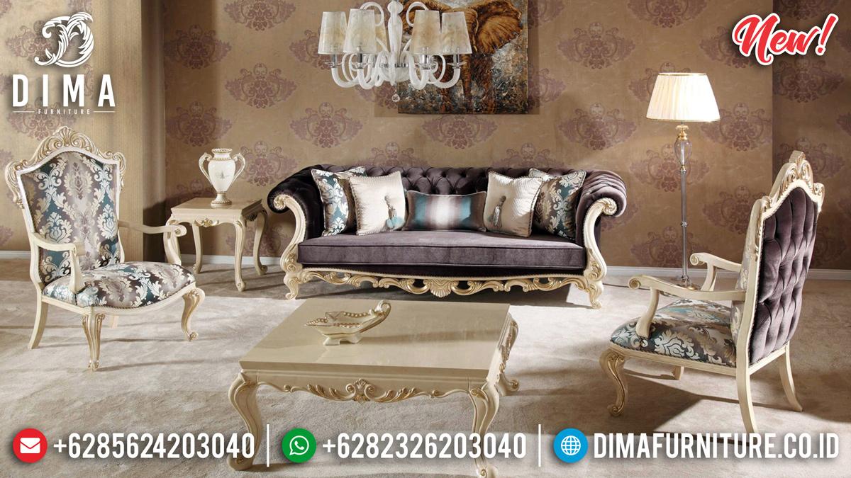 New Design Sofa Tamu Mewah Cat Duco Mebel Jepara TTJ-0247