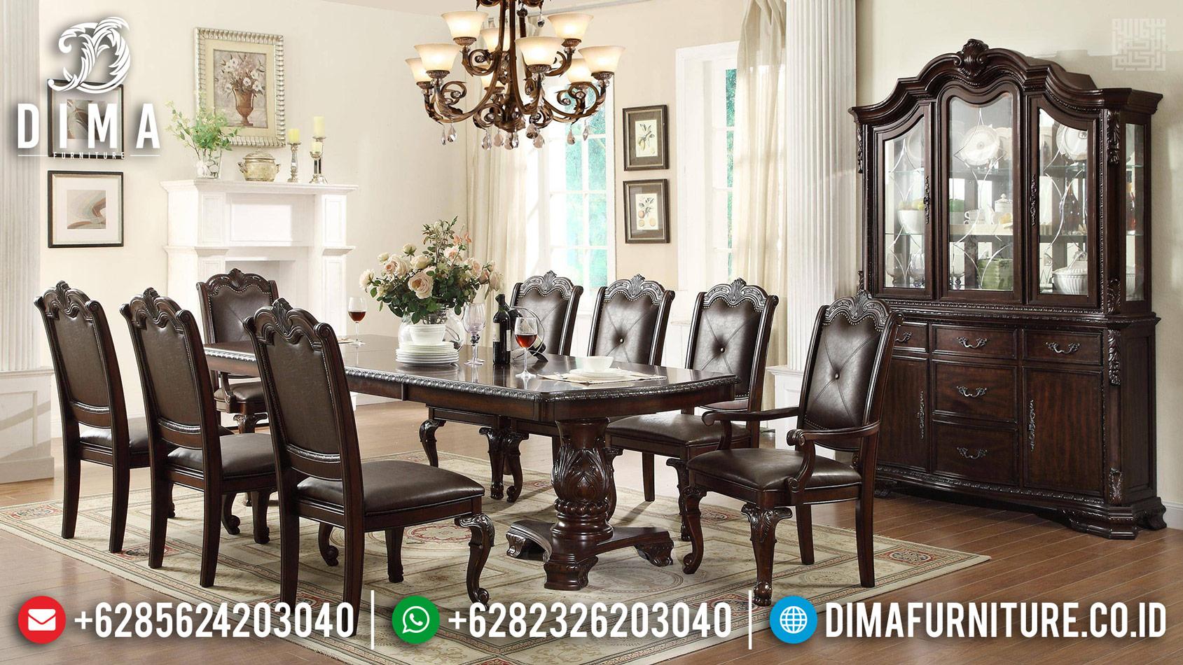 New Meja Makan Mewah Glorious Natural Classy Versace TTJ-0293