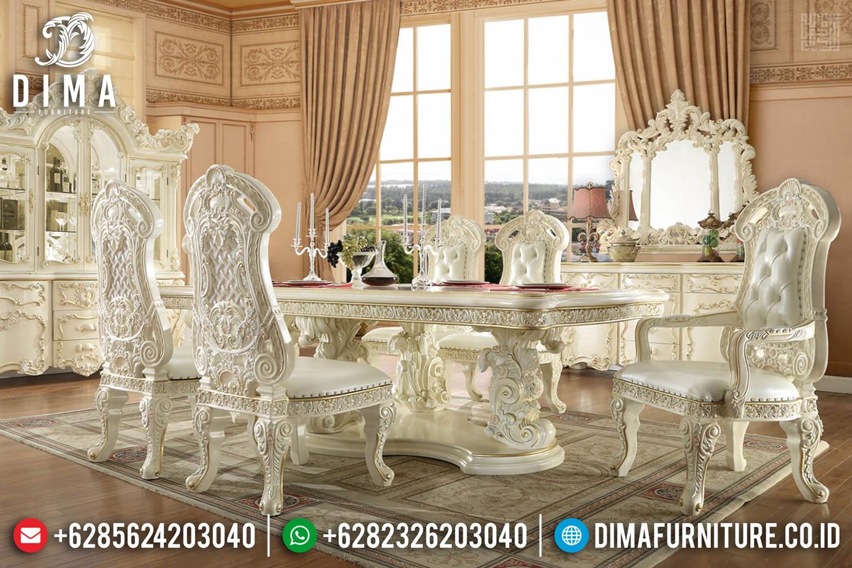 New Meja Makan Ukiran Jepara Superior Luxury Desain Ukiran Mewah TTJ-0311