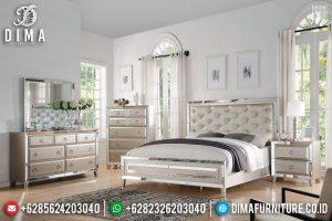 New Models Tempat Tidur Modern Minimalis Gold Champagne Glossy TTJ-0268