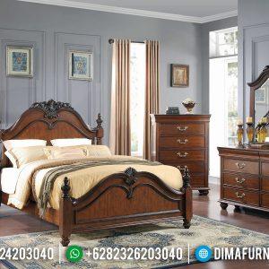 New Product 2020 Tempat Tidur Jati Natural Minimalis TTJ-0263
