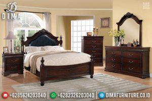 New Set Ranjang Dipan Kayu Jati, Tempat Tidur Jati Natural Jepara TTJ-0266