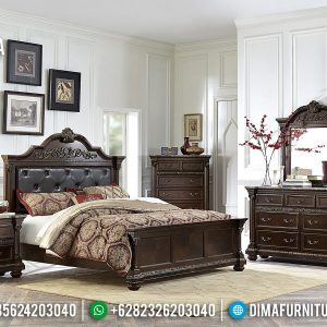 New Tempat Tidur Jati Ukiran Jepara Natural Minimalis TTJ-0255