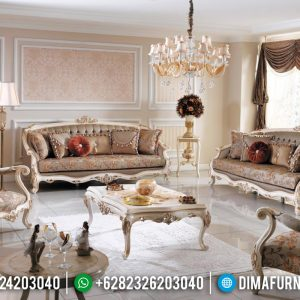 Set Sofa Tamu Mewah Jepara Gold Carving Furnishing TTJ-0181