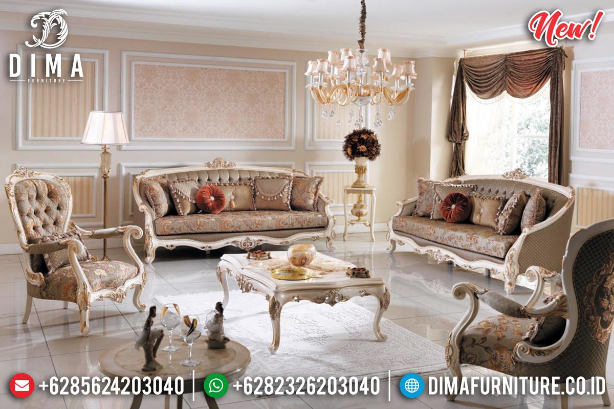 Set Sofa Tamu Mewah Jepara Gold Carving Furnishing TTJ-0181