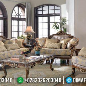 Set Sofa Tamu Ukiran Mewah Furniture Jepara Terbaru TTJ-0245