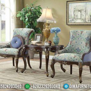 Sofa Santai Kursi Teras Jati Mewah Natural Ukiran Jepara TTJ-0301