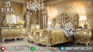 Superior Tempat Tidur Mewah Jepara Golden Crown Ukiran Luxury Classic TTJ-0353