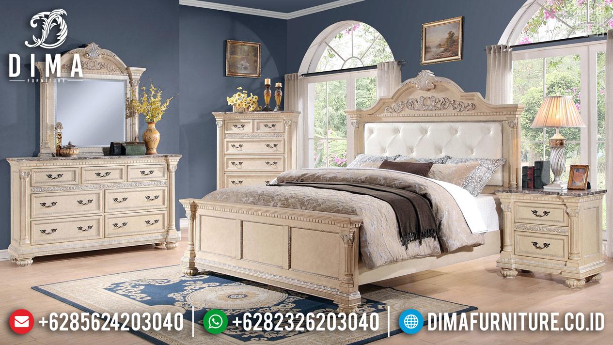 Tempat Tidur Mewah Desain 2020 White Chamonix Color TTJ-0272