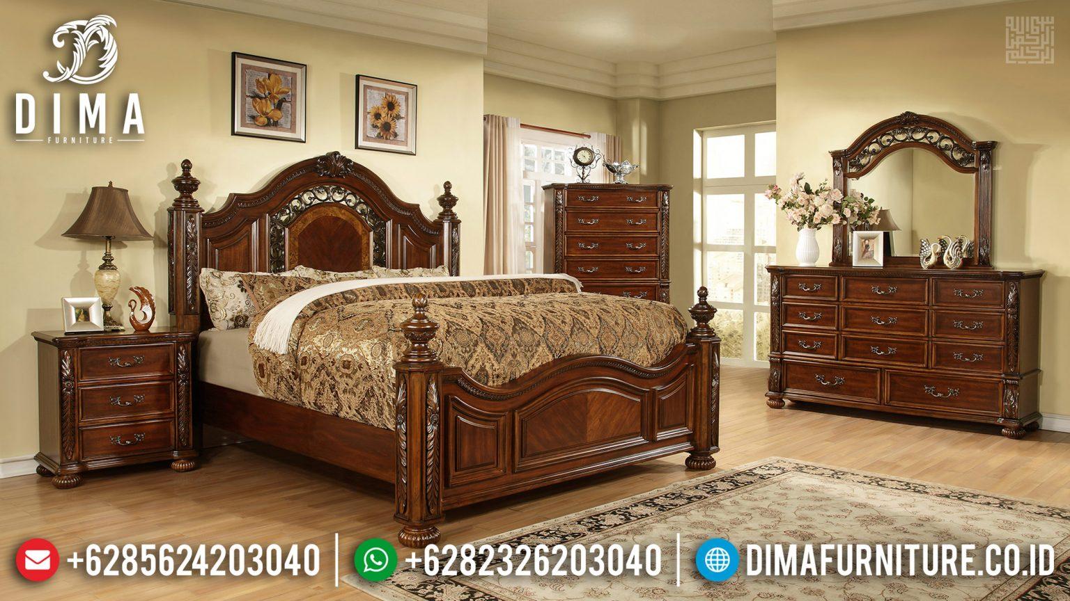 Tempat Tidur Mewah Ukiran Jepara, Kamar Set Mewah, Tempat Tidur Jati Ukir TTJ-0324